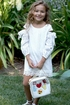 Hannah Banana Girls White Dress Eyelet (5 & 12) Alternate View #2