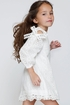 Hannah Banana Girls White Dress Eyelet (5 & 12) Alternate View