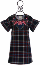 Hannah Banana Plaid Designer Dress Girls (2T,4T,4)