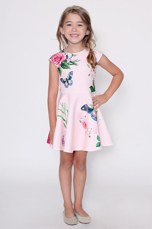 Hannah Banana Spring Dress for Girls in Pink SOLD OUT