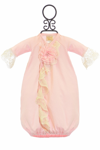 Haute Baby Chic Petit Baby Gown in Pink