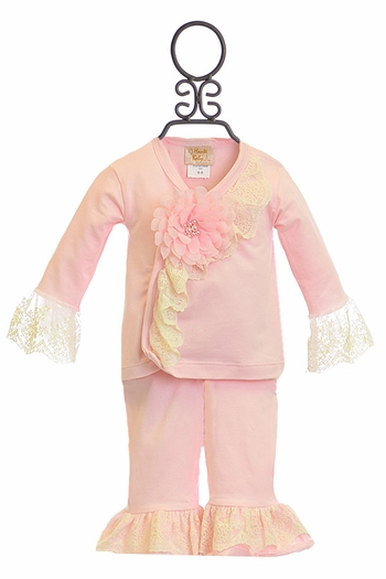 Haute Baby Pink Outfit Chic Petit (0-3Mos & 3-6Mos)