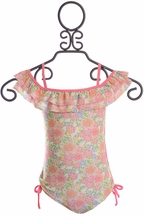Isobella and Chloe Floral One Piece Swimsuit (2T,4,6,10,12)
