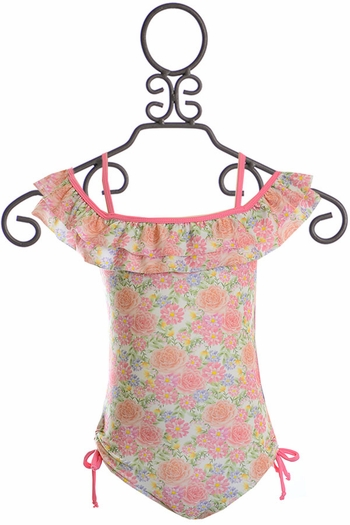 Isobella and Chloe Floral One Piece Swimsuit (2T,4,12)