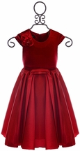 Isobella and Chloe Girls Red Dress (Size 3Mos)