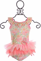 Isobella and Chloe Girls Tutu Swim Suit (Size 12Mos)