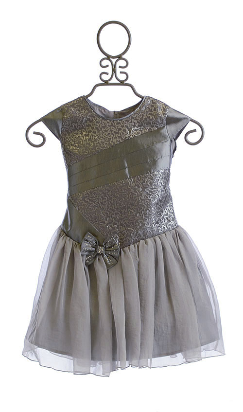 Isobella And Chloe Holiday Dress Silver Sequin Sold Out