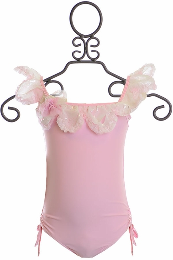 Isobella and Chloe Pink Girls One Piece SOLD OUT