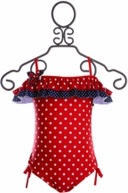 Isobella and Chloe Red White and Blue Swimsuit (5)