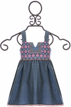 Jak and Peppar Althea Top in Chambray (Size 8)