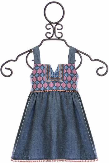 Jak and Peppar Althea Top in Chambray (8 & 10)