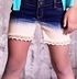 Jak and Peppar Cutoff Shorts for Girls with Lace Trim (Size 16) Alternate View #3