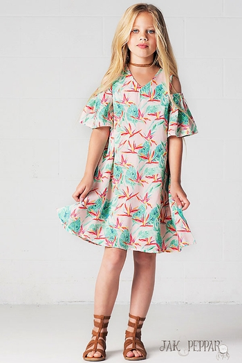 Jak and Peppar Isla Bonita Dress Cecily (4,5,6,7,10,12,14)