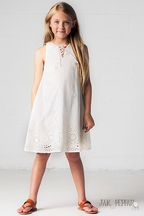 Jak and Peppar Ivory Girls Dress Harlow (12 & 14)