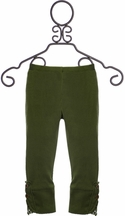 Jak and Peppar Leggings for Girls in Olive Green (Size 12Mos)