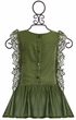 Jak and Peppar Maya Tunic for Girls in Olive Green (NB,3Mos,6Mos) Alternate View #2