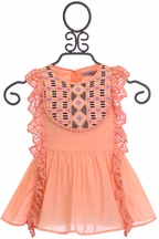 Jak and Peppar Maya Tunic in Tangerine (9Mos & 12Mos)