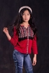 Jak and Peppar Red Plaid Top (Size 2T) Alternate View #3