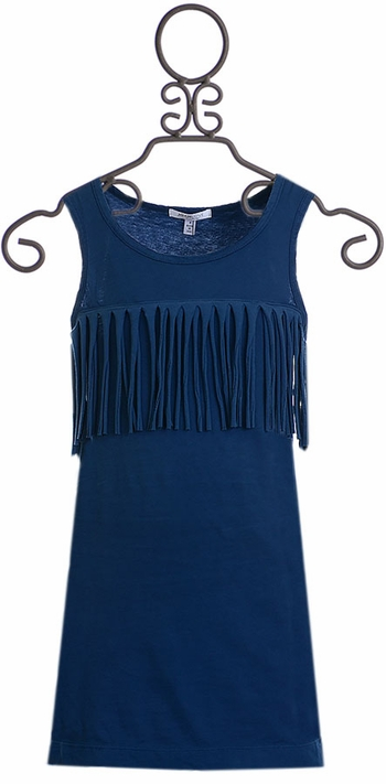 Joah Love Fringe Dress in Blue (Size 2)
