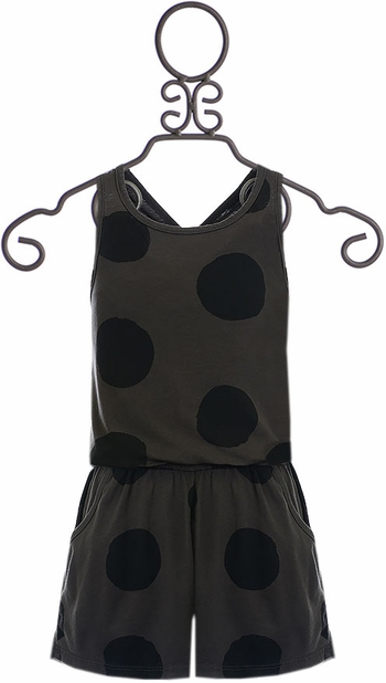 Joah Love Romper with Polka Dots (Size 4)