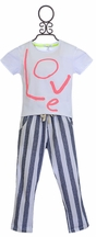 Joah Love Tee and Striped Pants (Size 4)