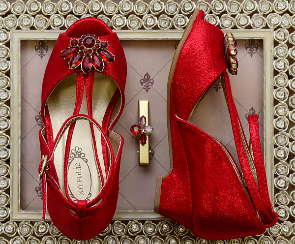 Joyfolie Red Rose Shoes