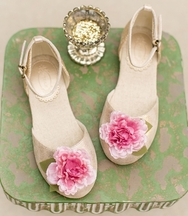 Joyfolie Hailey Flat in Blush (Size 8)