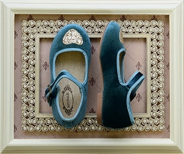 Joyfolie Liv Velvet Mary Jane Teal (Size 8)