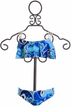 Kate Mack Bali Blue Swimsuit Girls (Size 4)