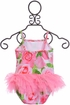 Kate Mack Pink Rose Tutu Swimsuit (Size 3Mos) Alternate View