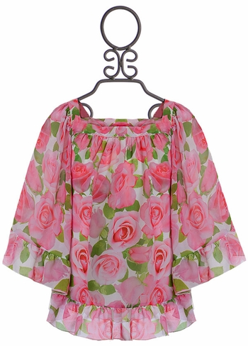 Kate Mack Swim Cover Up Roses (Size 7)
