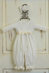 Katie Rose Cream Infant Romper with Headband Alternate View