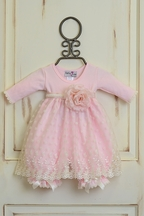 Katie Rose Fancy Baby Dress in Pink (Size Newborn)