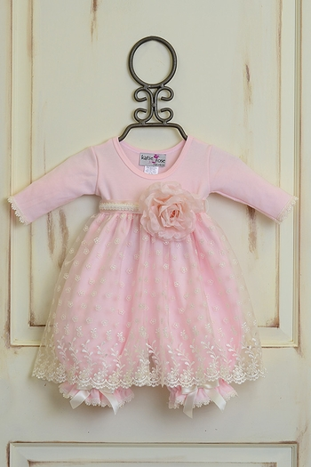 Katie Rose Fancy Baby Dress in Pink SOLD OUT