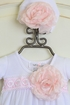Katie Rose Fancy Layette Gown in White with Hat (NB & 6Mos) Alternate View #2