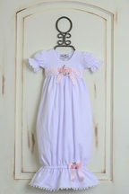 Katie Rose Girls Baby Gown with Short Sleeves (Size 9Mos)