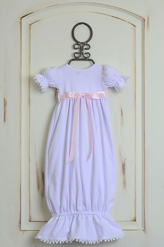 Baby Girls Katie Rose Gown with Short Sleeves|Get It Here