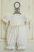 Katie Rose Girls Vintage Lace Romper Ivory (Size 9Mos) Alternate View