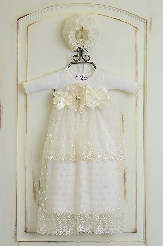 288ad94d891b Katie Rose Heirloom Christening Gown for Baby Girls
