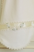 Katie Rose Ivory Baby Blanket for Girls with Lace Alternate View