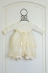 Katie Rose Ivory Baby Bloomer Dress with Flowers Alternate View