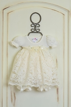 Katie Rose Ivory Lace Baby Girls Dress (NB & 9Mos)