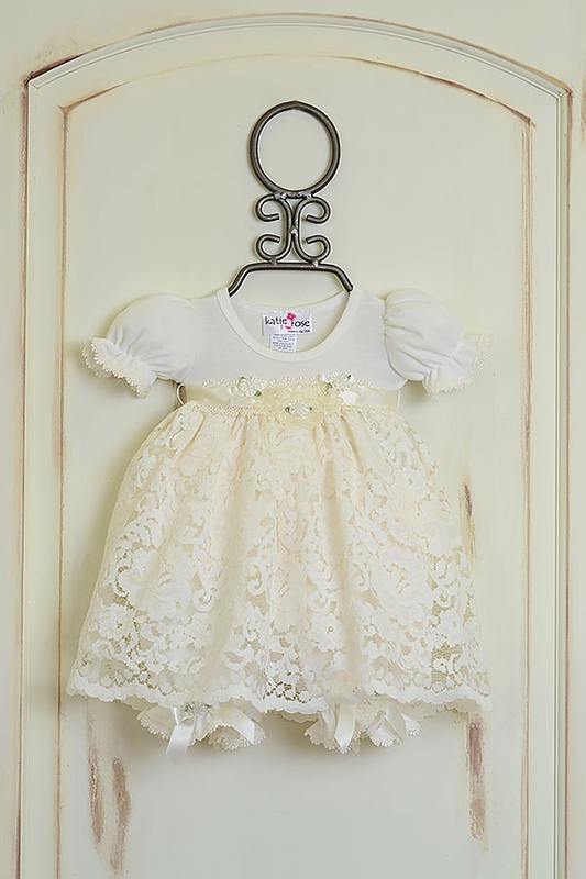 Girls Katie Rose Ivory Lace Baby Dress Save With Our Sale