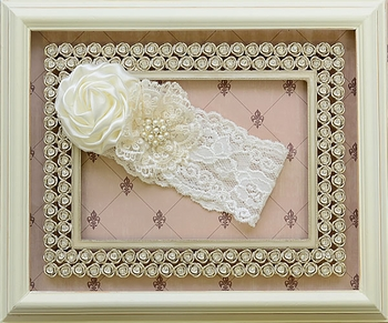 Katie Rose Ivory Lace Headband for Baby