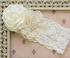 Katie Rose Ivory Lace Headband for Baby Alternate View