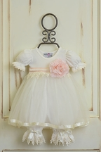 Katie Rose Ivory Vintage Lace Dress for Baby (Size 9Mos)