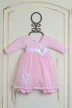 Katie Rose Leila Infant Girls Bloomer Dress  (NB,3Mos,6Mos)