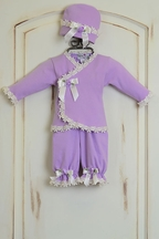 Katie Rose Lilac Infant Girl Coming Home Outfit (Size 9Mos)