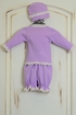 Katie Rose Lilac Infant Girl Coming Home Outfit (Size 9Mos) Alternate View