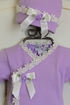 Katie Rose Lilac Infant Girl Coming Home Outfit (Size 9Mos) Alternate View #2